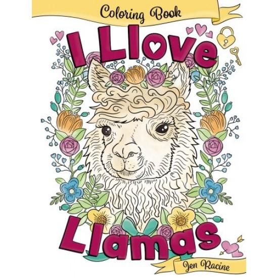 I Llove Llamas livre de coloriage